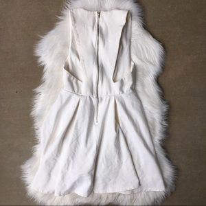 ANGL Back Cut Out Zipper Skater Club Mini Dress S
